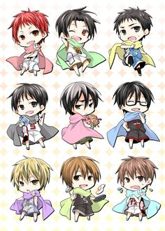 Chibi Point-guard : Akashi, Takao, Kasamatsu, Izuki, Hanamiya, Imayoshi, Fukui, Kasuga, Furihata