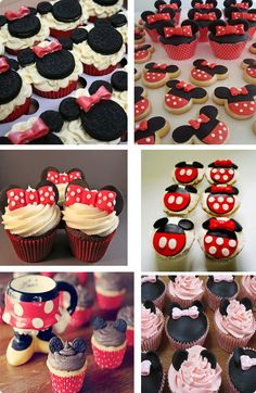 cupcakes παιδικο παρτυ μινι Mickey Minnie Mouse, 2nd Birthday, Party Time, Cupcakes, Desserts, Parties, Party Ideas, Events, Mom