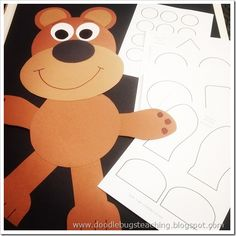 Bear Template@jennifer wright  how cute, maybe for something at the beginning of the year...