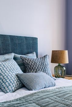 A boutique Australian textile house producing hand-printed linen cushions, wallpaper and homewares. Mix and match our exclusive designs for a relaxed coastal look pairing Bedroom Inspo, Bedroom Decor, Bedroom Ideas, Modern Bedroom, Master Bedroom, Bed Goals, India Design, Printed Linen, Home Textile