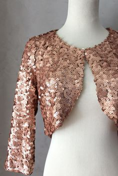 Sequined Bolero Jacket.