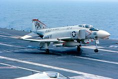 USS Forrestal - F-4 Landing (Just the Right Moment) by roger4336, via Flickr, my brother flew F 4's in Vietnam so I really love this pic!