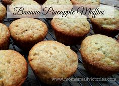 The Best Banana Pineapple Muffins. With a hint of applesauce, these fruity muffins taste great for breakfast or dessert. Serve warm with vanilla ice cream and a drizzle of caramel and you have a restaurant style dessert!