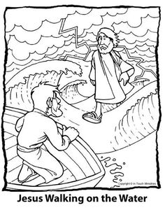 miracles of jesus coloring page drawing and coloring for kids - Drawings For Kids To Color