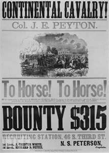 US civil war recruitment posters