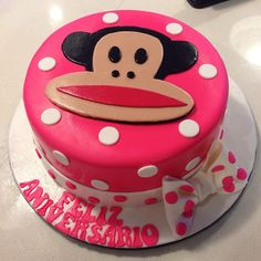 Happy Pinsday, Paul Frank fans! We love this BOWtiful cake from @delicake_bq! Who else wants a slice of this pink polka dot perfection?