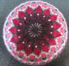 Ravelry: Ida the Hanging Tam with Hearts pattern by Madeleine Bergh