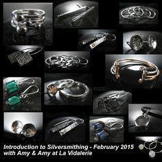 Silversmithing & More workshop with students Amy & Amy - jewellery making workshop holiday I in France February 2015