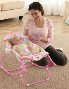 Baby Gear Newborn to Toddler Portable Rocker Swing Bouncer Washable Recliner NEW