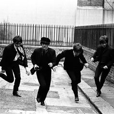 """#OTD #1964 #TheBeatles begin shooting 'A Hard Day's Night'. ➿ """"The train bit embarrasses us now. I'm sure it's less noticeable to people watching in the cinema, but we know that we're dead conscious. In every move we make, we watch each other. Paul's embarrassed when I'm watching him speak and he knows I am. You can see the nervous bits normally in pictures: things like the end - you make that on one day, and on the next day you do the beginning. But we did it almost in sequence. The first…"""
