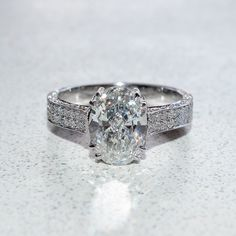 Size 7 3.52ct Brilliant Cut  Engagement Ring