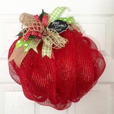 Back to School Wreath Teacher's Gift Classroom by ThePinkGardenias