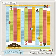 Perpetual Calendar Template By Scrapping With Liz HttpThe