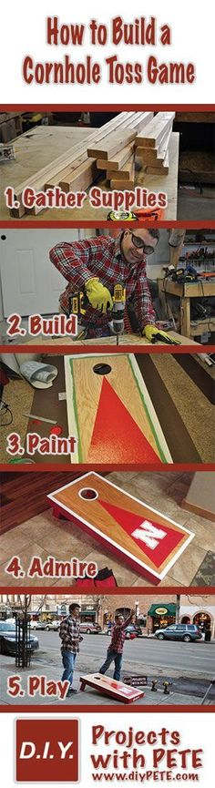 Complete Plans and Video Tutorial on how to make Cornhole game boards!