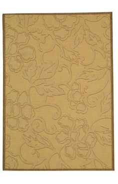 Safavieh Courtyard Outdoor CY2726 Natural Brown Rug | Country & Floral Rugs #RugsUSA