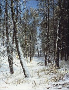 Winter in a forest (Rime) - Ivan Shishkin