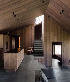 When the natural setting is harsh, stark and ascetic, you can succeed in two ways when designing a building. You design to stand out and be seen, or you go the opposite route and design to blend in and become invisible.  When it comes to private villas in the Norwegian mountains, the architects at Oslo-based Lund Hagem fall decidedly, and with great skill, into the latter category. (Link in profile) #thecoolhunter