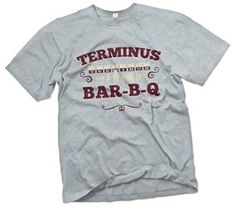 Mens Terminus BBQ Vintage Style Zombie Apocalypse T Shirt, Sport Gray, Large Walking Dead T Shirts, The Walking Dead, Bbq Gifts, Zombie Apocalypse, Cool Tees, Vintage Fashion, Vintage Style, Branded T Shirts, Funny Shirts