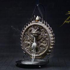 Ceramic Backflow Incense Burner Dragon Sculpture
