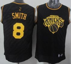 New York Knicks J. Smith Revolution 30 Swingman 2014 Black With Gold Jersey 97d159321