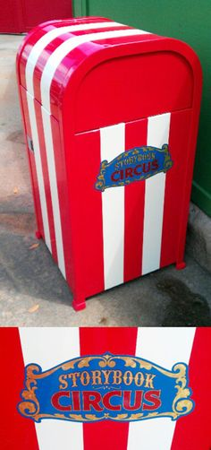 Storybook Circus at the Magic Kingdom has new trash can designs! What do you think?