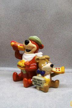 Yogi Bear Boo Boo Eating Pizza Hot Dog from Picnic Basket Salt Pepper WG | eBay
