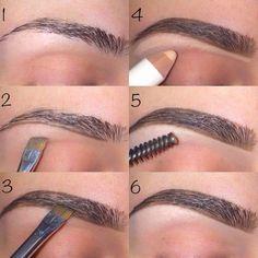 Make Up; Make Up Looks; Make Up Augen; Make Up Prom;Make Up Face; Love Makeup, Makeup Inspo, Beauty Makeup, Perfect Makeup, Thin Eyebrows, Perfect Eyebrows, Shape Eyebrows, How To Do Eyebrows, Makeup Looks