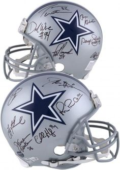 f1338062205 Dallas Cowboys Legends Autographed Riddell Speed Pro-Line Helmet - Limited  Edition of 24