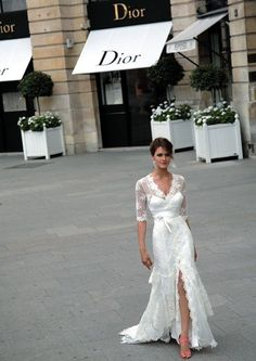 Vintage-inspired Dior wedding dress - LOVE! #wedding #dress #bride #weddingdress #gown