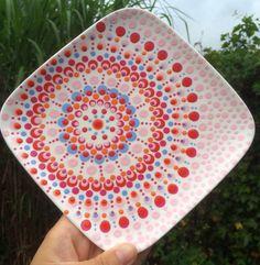 Workshop 'Hip Gestipt Dot Art Painting, Mandala Painting, Pebble Painting, Pottery Painting, Ceramic Painting, Ceramic Art, Mandala Dots, Mandala Pattern, Mandala Design