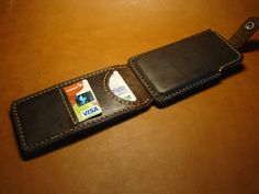 HTC One leather cover leather phone case by ArtLeatherDesign