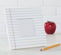 Back to School Teacher Appreciation Idea: FolkArt® Notebook Paper Frame