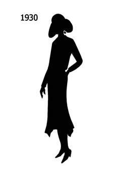 Black Silhouettes 1920 to 1930 in Costume History - Fashion History, Costume Trends and Eras, Trends Victorians - Haute Couture Shadow Silhouette, Fashion Silhouette, Black Silhouette, Free Black, Black And White, Miniature Portraits, Silhouette Projects, Historical Clothing, Vintage Beauty