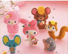 Item Name    My Melody and Friends, 6 Felt Plush Pattern PDF       Price    $2.90       Description    This high qua...