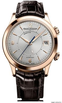 Jaeger LeCoultre Master Memovox    This new model pays homage to the classic JLC Memovox mechanical alarm watch of the 1950's. The alarm function is accessed via a separate crown that rotates an inner ring.