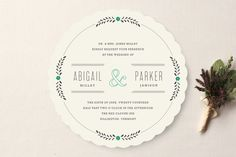 Unique, die-cut invitation by Minted