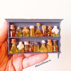Jars on a Shelf - Dollhouse Miniature