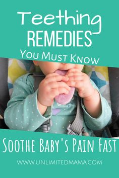 Baby teething remedies to soothe your baby. I'll share the best teething toys and home remedies that help my teething baby and will help yours too. Baby Teething Symptoms, Teething Signs, Best Teething Toys, Baby Teething Remedies, Teething Gel, Natural Teething Remedies, Natural Remedies, Baby Teething Biscuits