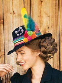 burda style, Anleitung: bunte Bommel selber basteln Hairstyle, Cool Stuff, Pretty, Diy, Fashion, Dirndl, Hair Jewelry, Carnavals, Sewing Patterns