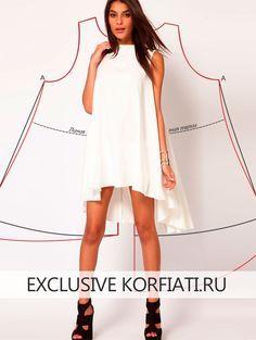 Свободное платье с асимметричным подолом