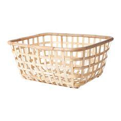 IKEA - VIKTIGT, Cesto de roupa, Todos os cestos são feitos à mão, por isso cada um é único.