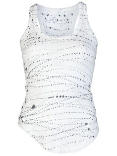 Shop Raquel Allegra Wife lover tie-dye tank in  from the world's best independent boutiques at farfetch.com. Over 1000 designers from 300 boutiques in one website.