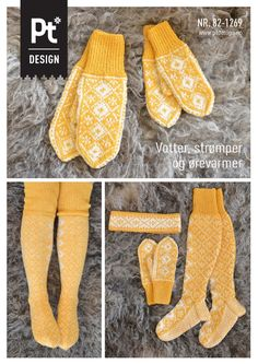 Dagens gratisoppskrift: Votter, strømper og ørevarmer | Strikkeoppskrift.com Knitted Mittens Pattern, Knit Mittens, Knitting Socks, Baby Knitting, Knitting Patterns, Make Your Own Clothes, Diy Clothes, Drops Baby, Fingerless Mittens