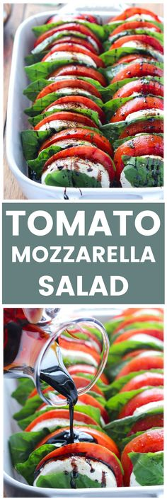 10 Most Misleading Foods That We Imagined Were Being Nutritious! The Best Tomato Mozzarella Salad With Balsamic Reduction. It's A Crowd Pleaser Every Single Time. Chicken Salad Recipes, Pasta Recipes, Cooking Recipes, Healthy Snacks, Healthy Eating, Healthy Recipes, Balsamic Reduction Recipe, Tomato Mozzarella Salad, Brunch