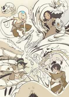 This is cute, but where's Sokka? I'll accept the absence of Suki because she's not part of the original Ganng.