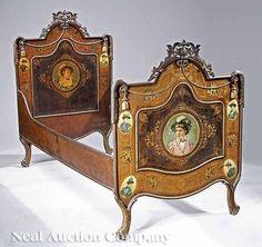 19th Century Austrian Fin-de-Siècle Tole Peinte Day Bed