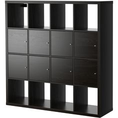 KALLAX (820 BRL) via Polyvore featuring shelf, black, ikea e storage