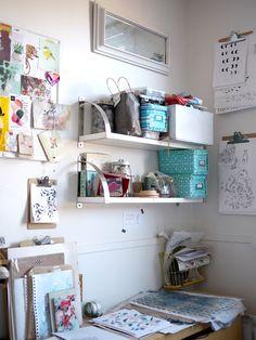 Les filles Tandem & co- et le Bocal de Mag jasent : entrevue #coupdecoeurlocal - Son Atelier - par Tandem & co-   Design intérieur en ligne #déco #local bureau à la maison, home office - Pour recevoir ta dose d'inspiration déco chaque semaine, rejoins la #TribuCréative, c'est gratuit => tandemcodesign.com/infolettre