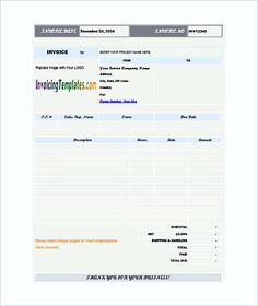 Sample Hourly Invoice Templates  Hourly Invoice Template