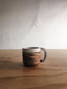 Rilo is the Full handle cup Made by hand, thrown off the wheel Dishwasher and microwave safe Made in SF Atlas is the marbled clay body which varies in each cup. Kitchen Dining, Dinnerware, Coffee Mugs, Cups, Plates, Tableware, Handmade, Dinner Ware, Licence Plates